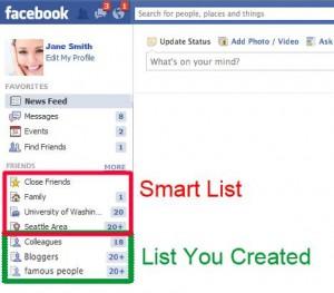 Facebook smartlist