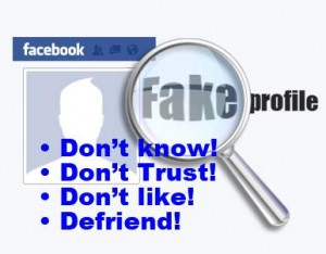 dont know dont trust fake profile