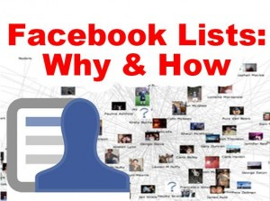 facebook lists why and how