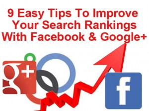 improve ranking google plus facebook