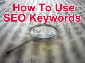 how to use seo keywords