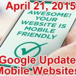 google update mobile websites