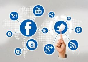 be present on social media